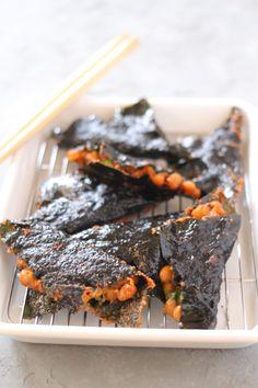 リピートな違いなしのおいしさ!! 揚げた納豆と海苔が香ばしくなってコクもアップ。 ごはんにもお酒にもよく合う1品です。 Cafe Food, Food Menu, Snack Recipes, Snacks, Junk Food, Japanese Food, Steak, Food And Drink, Cooking
