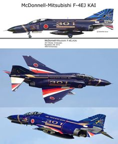 McDonnell Douglas F-4EJ KAI  Phantom II Airplane Fighter, Fighter Aircraft, Fighter Jets, Us Military Aircraft, Military Jets, In The Air Tonight, F4 Phantom, Military Drawings, Airplane Design