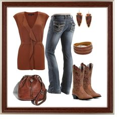 """Country Dancing Date Night"" by tsartin001 on Polyvore"