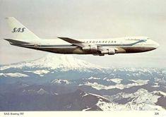 "Scandinavian Airlines System - SAS Boeing 747-283B OY-KHA ""Ivar Viking"" in a promotional image, circa 1971. (Image: SAS)"