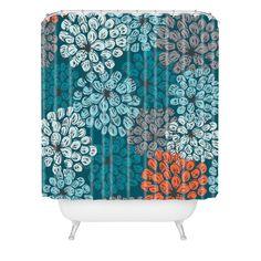 DENY Designs Khristian A Howell Woven Polyester Greenwich Gardens 3 Extra Long Shower Curtain & Reviews | Wayfair