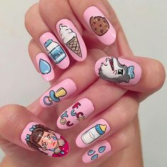 Nails kawaii# Melanie Martinez⭐