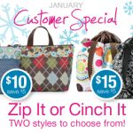 Customer Special! Only through Jan 31!! Fantastic lunch totes..the new cinch tote is beautiful! mythirtyone.com/nikkihorning