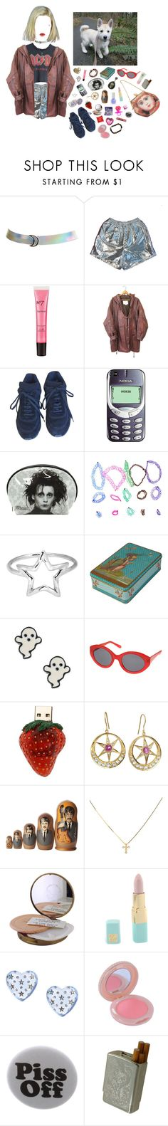 """""""I was born without you, babe, but my feelings were a little bit too strong"""" by queenofrocknroll ❤ liked on Polyvore featuring Wet Seal, BARBARELLA, Boots No7, Chanel, Nokia, Adina Reyter, claire's, Topshop, Emma Chapman and Estée Lauder"""