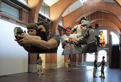 Réalité jetable by Wang Du.  sculptures.  Holy sh*t!!  Amazing!