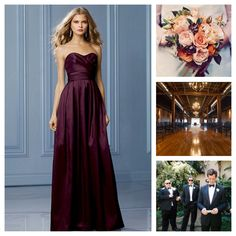 Newest, and final inspiration. Bridesmaid dress, floral colors, venue and tuxes!