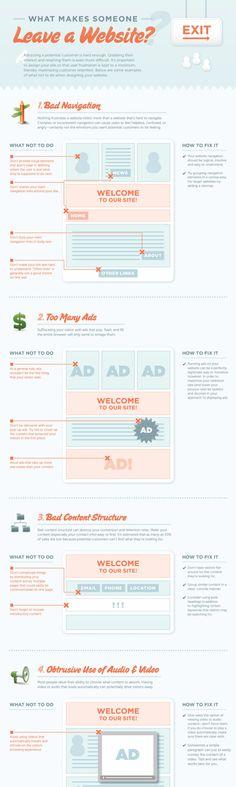 8 redenen waarom mensen jouw website verlaten - I ❤ Infographic Friday