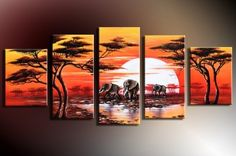 Large Canvas Art, Abstract Art, Canvas Painting, Abstract Painting, Af – Silvia Home Craft 5 Piece Canvas Art, Large Canvas Art, Buy Canvas, Hand Painting Art, Acrylic Painting Canvas, Woman Painting, Giraffe Painting, Figure Painting, Elephant Paintings
