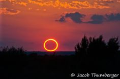 Solar eclipse, Ring of Fire, from May 21, 2012.