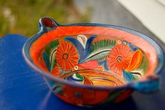 Mexican Pottery Bowl by TheSouthernMermaid on Etsy