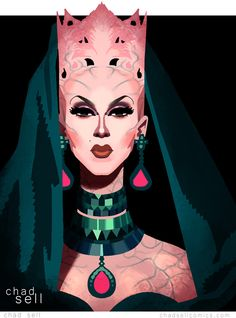 Violet Chachki - RuPaul's Drag Race Season 8 Finale by Ched Sell
