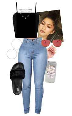 """Outfit"" by angiebe1 on Polyvore featuring Wet Seal, WearAll, Ray-Ban, Vita Fede and Puma"
