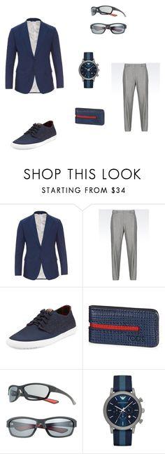"""look"" by ninatsa on Polyvore featuring Dolce&Gabbana, Emporio Armani, Ben Sherman, Tod's, Dockers, men's fashion and menswear"