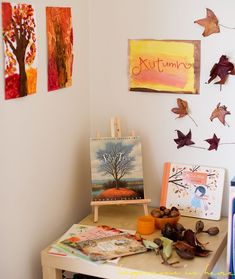 Sep 9, 2014 - In a few days it will be spring in Australia and we are excited! The girls know all about the seasons and […] Autumn Activities, Toddler Activities, Activities For Kids, Fall Crafts, Diy And Crafts, Crafts For Kids, Waldorf Kindergarten, Season Calendar, Oak Meadow