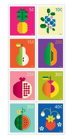 Fruit by Christopher Dina, via Behance #flat #design