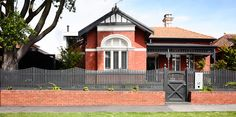 Venn Architects » McKinley House House Exterior Color Schemes, Exterior Colors, Brick Fence, Front Fence, Edwardian House, Victorian, Red Brick Exteriors, Home Exterior Makeover, Australian Homes