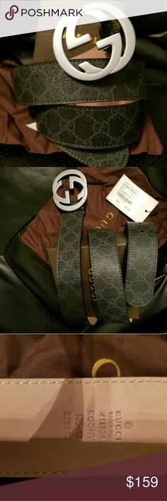 😎Authentic Gucci Belt Black Canvas Monogram Print 😎Authentic Gucci Belt Black Canvas Monogram Print with Matte Silver GG Buckle. Nice! Comes with tag, dust bag and box. Fast Same Day Shipping via USPS Priority Mail. All Reasonable Offers Considered. Gucci Accessories Belts