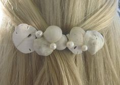 seashell hair clip...can make this from shells you collected for self or souvenir!