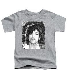 Toddler T-Shirt - Prince - Tribute Sketch In Black And White 3