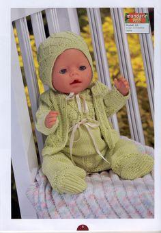 Album Archive - Dukketøj til Baby Born 2 - Ingelise Knitted Doll Patterns, Knitted Dolls, Baby Knitting Patterns, Baby Born Clothes, Pet Clothes, Knitting Dolls Clothes, Doll Clothes Patterns, Child Doll, Baby Dolls