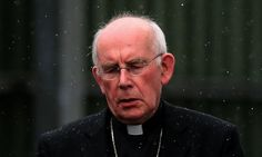 Cardinal Seán Brady leaves the Historical Institutional Abuse Inquiry at Banbridge courthouse, Co Down.