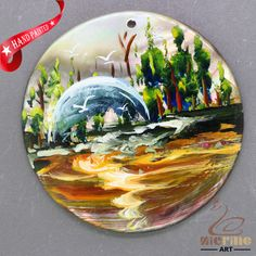 Fashion Pendant Hand Painted Scenery Natural  Shell necklace ZL304355 #ZL #Pendant