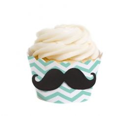 Chevron Mustache Die Cut & Wrapper Kit