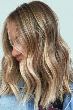 Hair color with Balayage ❤ Balayage vs Ombre: Find the Difference ❤ Ombré Hair, New Hair, Your Hair, Curly Hair, Blonde Balayage, Subtle Balayage, Great Hair, Gorgeous Hair, Beautiful