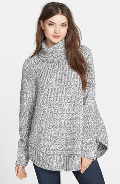 MICHAEL Michael Kors Turtleneck Poncho Sweater available at #Nordstrom