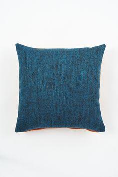 Lane Twin Tone tweed Cushion - 'Seville Orange