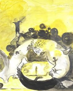 Artwork by Graham Sutherland, Untitled, Made of Ink and gouache Magazine Art, Watercolor And Ink, Art Market, Gouache, Graham, Owl, Auction, Artist, Artwork