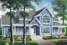 Discover the house plans collection: Country house plan collection by Drummond House Plans. Style At Home, Country Style House Plans, French Country House, Modern Farmhouse Style, Country Charm, Country Farmhouse, Garage House Plans, Dream House Plans, House Floor Plans