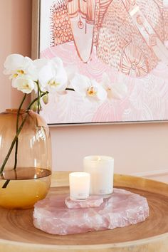 Three Birds Office Refurb Blush Styling Side Tables Office Styling Crystal The post Three Birds Office appeared first on Decoration. Luxury Home Accessories, Decorative Accessories, Pink Accessories, Decoration Design, Deco Design, Interior Inspiration, Room Inspiration, Interior Ideas, Deco Zen
