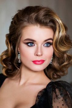 Professional Elstyle artists present best wedding hairstyles for short hair Bridal short hairstyles gallery. Professional Elstyle artists present best wedding hairstyles for short hair Best Wedding Hairstyles, Retro Hairstyles, Bride Hairstyles, Short Formal Hairstyles, Hairstyles 2018, Hairstyle Wedding, Vintage Wedding Hairstyles, Easy Hairstyles, Pageant Hairstyles