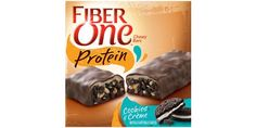 Fiber One Protein Cookies and Creme 26 Packaged Snacks To Eat When You're Trying To Be Healthy Healthy Packaged Snacks, Healthy Snacks To Buy, Healthy Recipes, Healthy Munchies, Healthy Meals, Wholly Guacamole, Food Should Taste Good, Chocolate Protein Bars, Toasted Coconut Chips