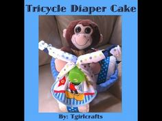 How to make a Tricycle Diaper Cake for a Baby Shower - YouTube