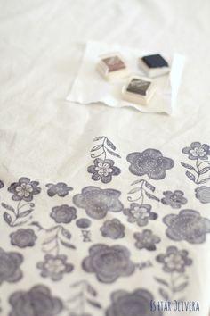 DIY: Stamping on fabric ♥