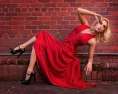 "LeslieAnn 3569 - Model LeslieAnn in a deep red pose.  Details on my <a href=""https://www.facebook.com/DavidPalmerPhotographySF/"">Facebook</a> page!"