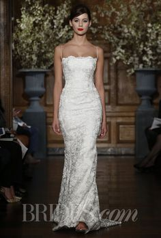 Brides: Romona Keveza Collection - Spring 2014 Style RK530, ribbon lace fluted gown, Romona Keveza SHAPE