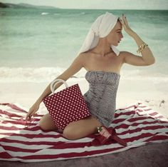 1950s in swimsuits.