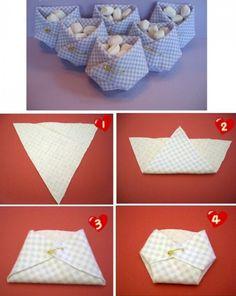 Con este sencillo tutorial puedes elaborar pequeños pañales de tela de niñas o niños