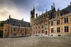 """Bruges, Belgium.Gruuthusemuseum. Presumably in the 13th century, a rich family from Bruges received the monopoly to levy taxes on gruit, and built a storage for it. The building was changed in the early fifteenth century by Jan IV van der Aa to a luxury house for his family, which subsequently changes its name to """"Van Gruuthuse"""" (""""From the Gruit house""""). His son Louis de Gruuthuse adds a second wing to the house, and in 1472 a chapel."""