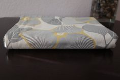 Grey and Yellow floral baby blanket. 100 cotton by HowILoveYouSew, $30.00
