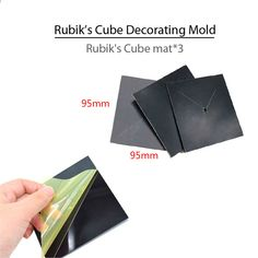 25st   1set Rubiks Cube Cake Mould Set Dessert Mögel Fondant Cake  Dekorerande Tillbehör 953342acb480c