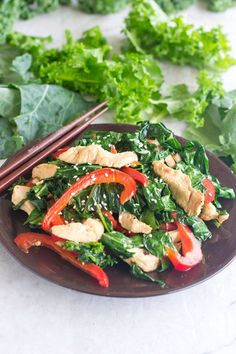 """Healthy Recipes : Illustration Description Cut Greens Sesame Stir Fry – An amazing way to use that big bag of cut greens from your fridge – put them in a stir fry! It's a quick, delicious and healthy meal. """"Nothing will work unless you do"""" ! -Read More – Healthy Eating Recipes, Vegetarian Recipes, Keto Recipes, Vegetarian Barbecue, Oven Recipes, Vegetarian Cooking, Healthy Eats, Easy Recipes"""