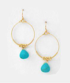 Turquoise Jhumka Earrings