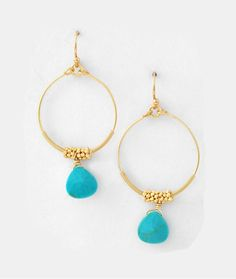 Turquoise Jhumka Earrings