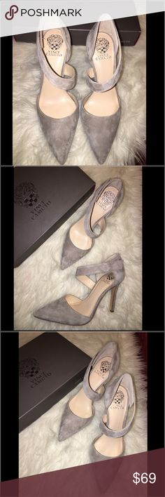 Vince Camuto Taupe Suede Pumps Brand new Vince Camuto Taupe Suede Pumps in Size 9.5. Original box is included. Gorgeous for a night out or for the office! Vince Camuto Shoes Heels