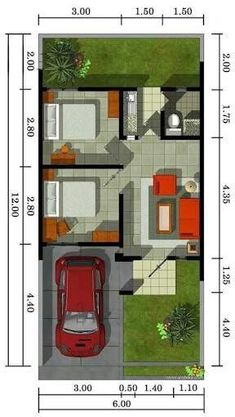 Ideas For House Goals Floor Plans Layout Minimalis House Design, The Plan, How To Plan, Small House Floor Plans, Model House Plan, Floor Plan Layout, Facade House, Small House Design, Home Design Plans