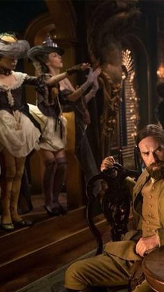 S2 Murtagh looks slightly perplexed at lack of costume on the 'ladies'.